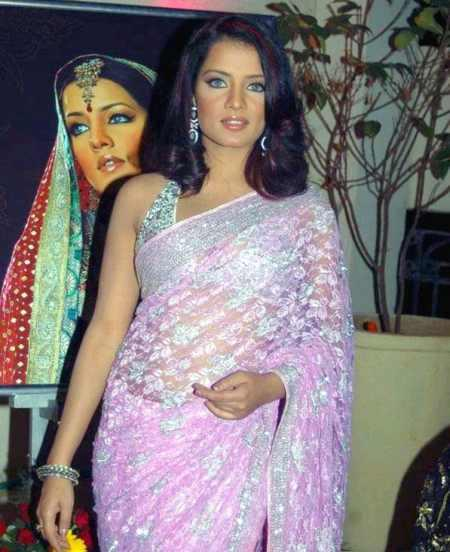 Celina Jaitley In Gorgeous Pink Saree Pic