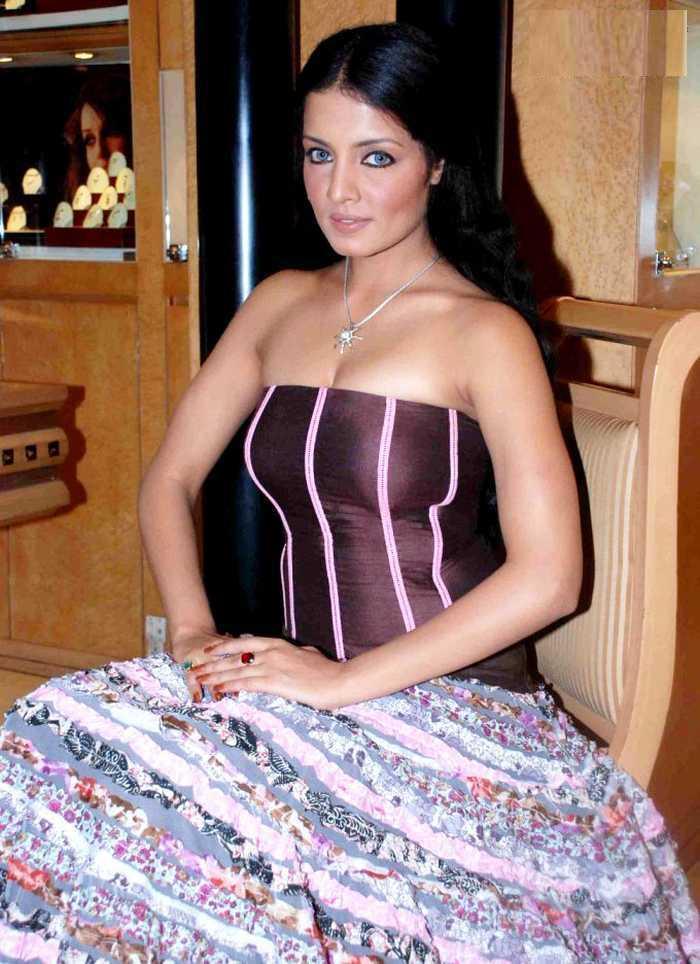 Celina Jaitley Strapless Dress Glamour Still