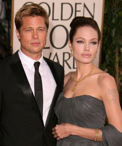 Angelina Jolie and Brad Pitt Hot Glamour Look Pic