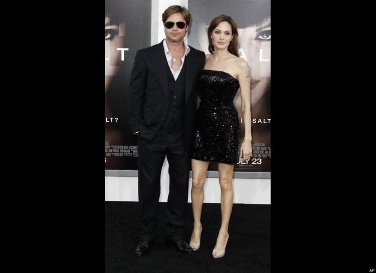 Brad Pitt and Angelina Jolie at the Premiere of  Salt