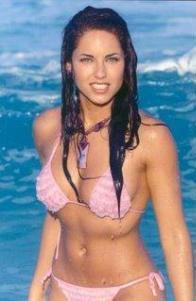 Barbara Mori Wet Outfit Still In Pink Bikini