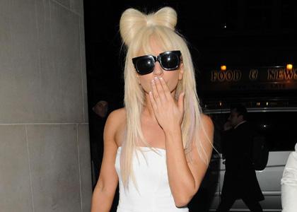 Lady Gaga Flying Kiss Still