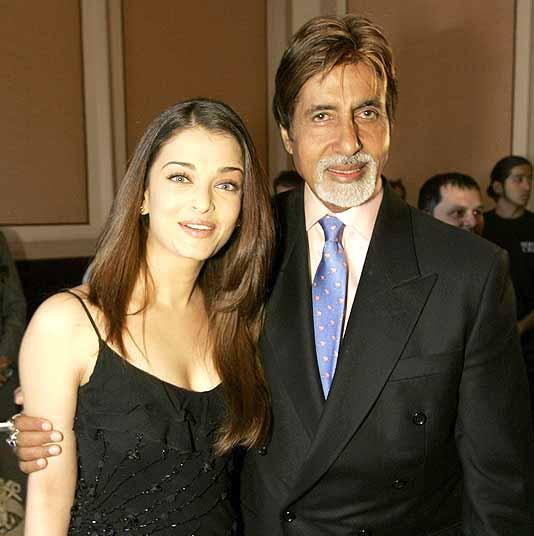 Amitabh and Aishwarya Poses For Photo Shoot