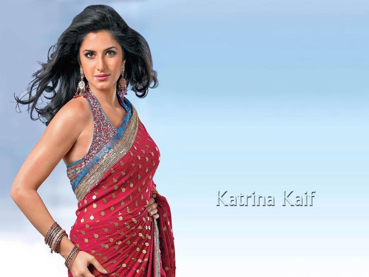 Katrina Kaif Rocking Face Look In Saree