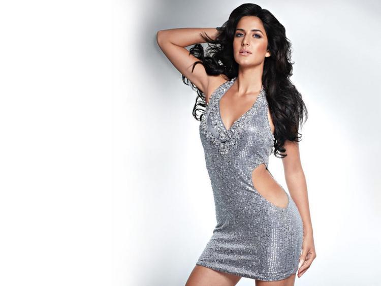 Katrina Kaif Sexy Dress Spicy Pose Wallpaper