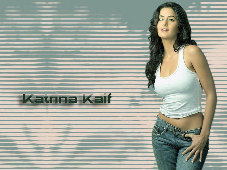 Katrina Kaif Spicy Pose With White Short and Jeans