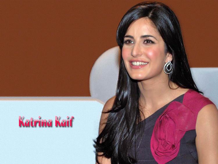 Katrina Kaif Sweet Smiling Look Wallpaper