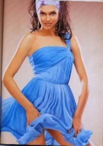 Deepika Padukone Rocking Pic In Blue Dress