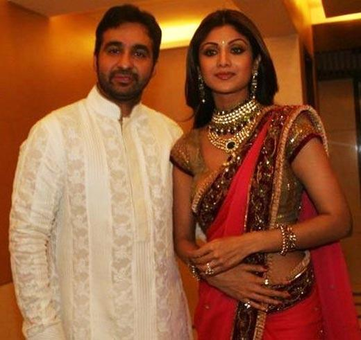 Raj Kundra With Shilpa Shetty Engagement Photo