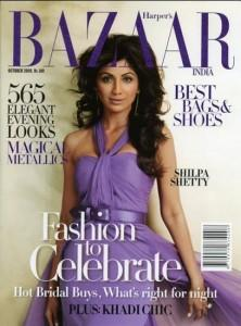 Shilpa Shetty On Bazaar Magazine