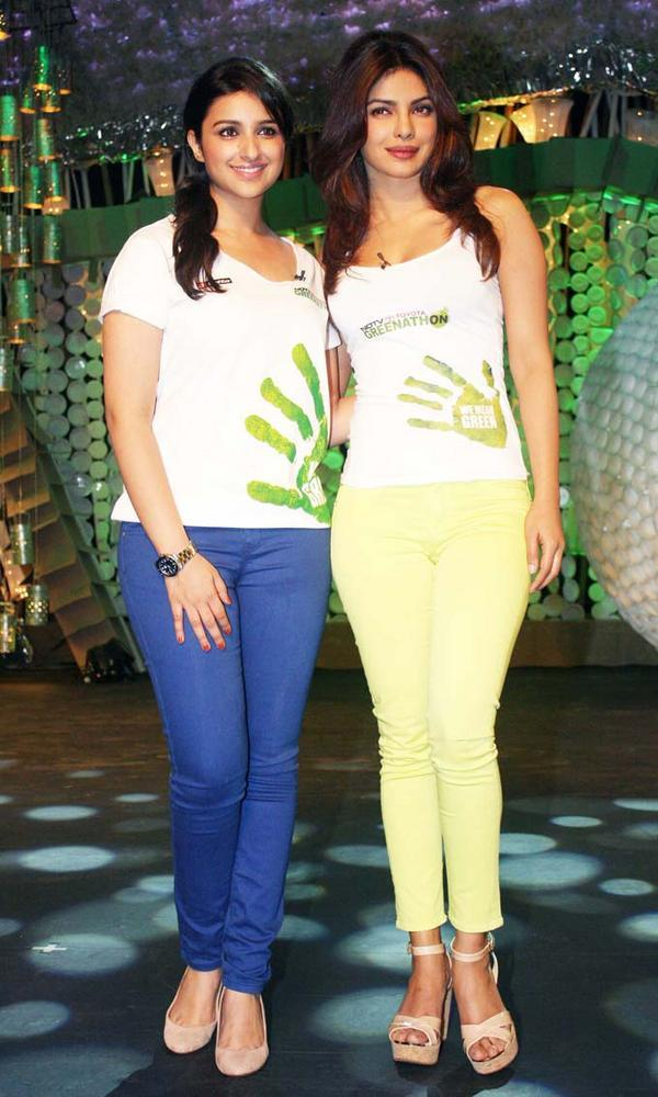Priyanka Chopra and Parineeti Chopra on NDTV Greenathon 4
