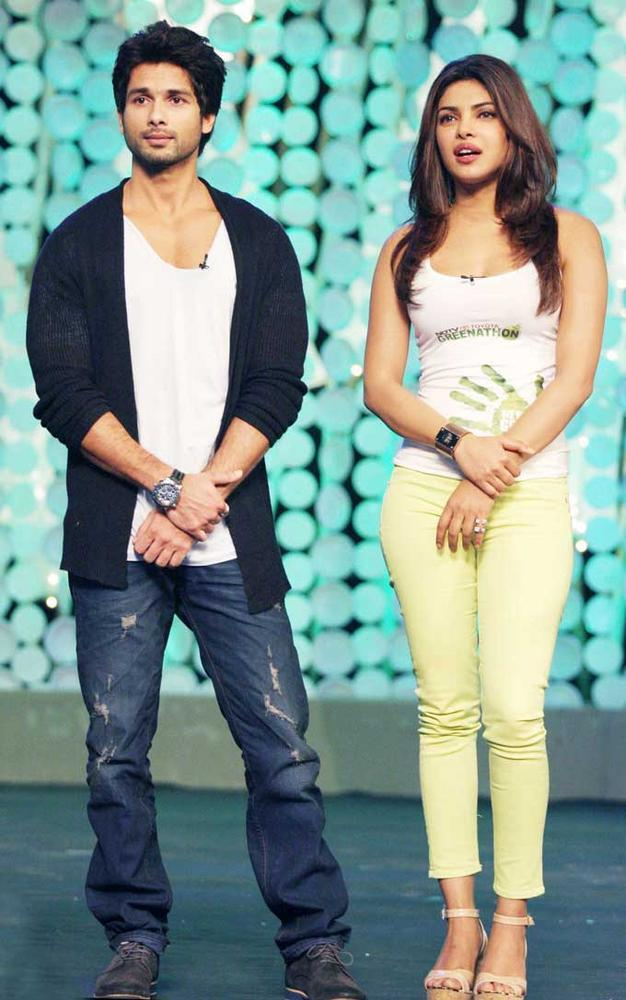 Shahid and Priyanka at NDTV Toyota Greenathon 4