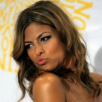 Eva Mendes Kissing Lips Pose Still