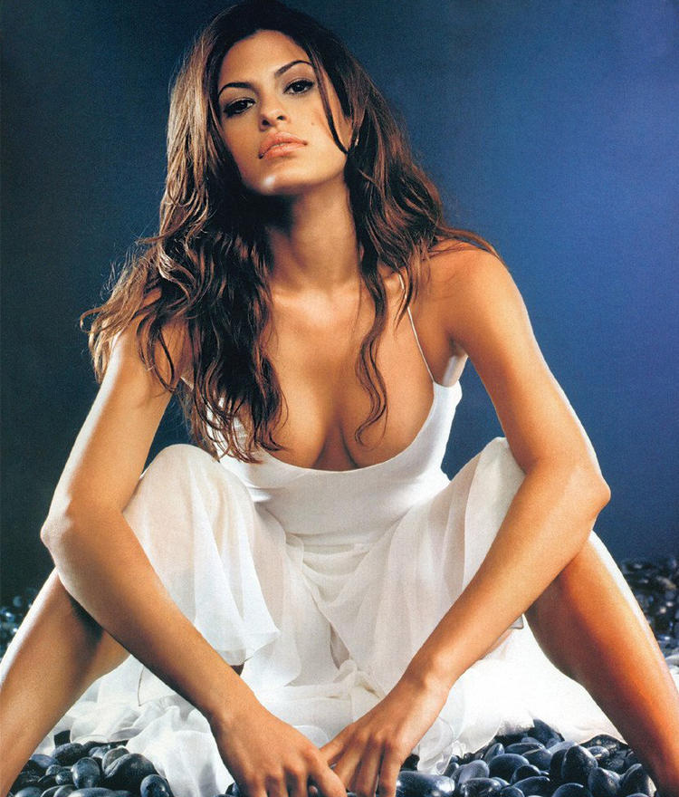 Eva Mendes Sexy Cleavages Exposing Still