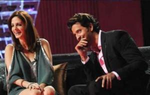 Hrithik Roshan and Suzanne Khan In Koffee With Karan Show