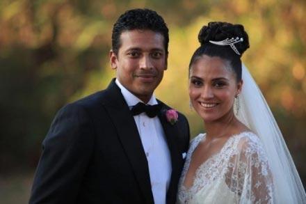 Lara Dutta and Mahesh In Wedding Dress Photo Shoot