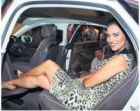 Lara Dutta Naughty Pose In Car