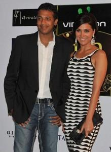 Lara Dutta Poses With Husband Mahesh