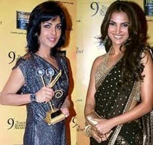 Lara Dutta Sweet Still In Transparent Saree