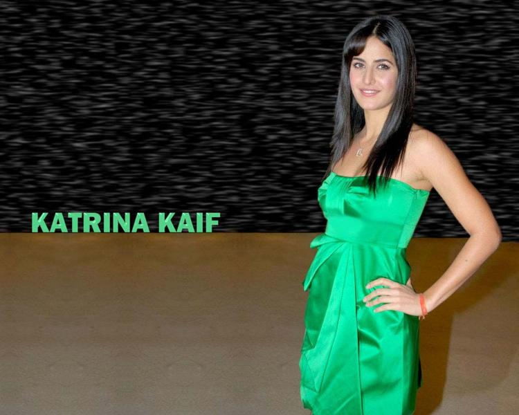 Katrina Kaif Glazing Green Dress Wallpaper