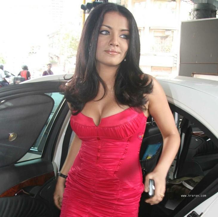 Celina Jaitley Hot Cleavage Show Still