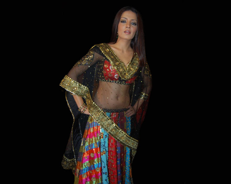 Celina Jaitley Hot Pic In Ghagra