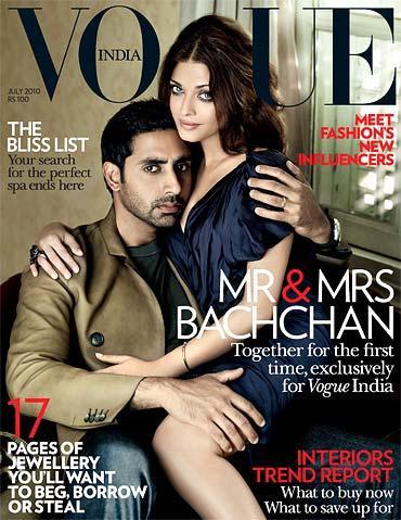 Aishwarya and Abhishek on Cover of Vogue India Magazine