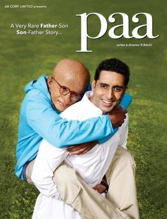 Amitabh and Abhishek Bachchan Cute Pic In Paa