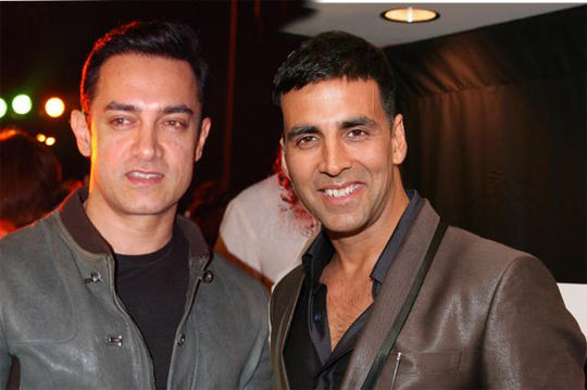Aamir Khan and Akshay Blazer Still