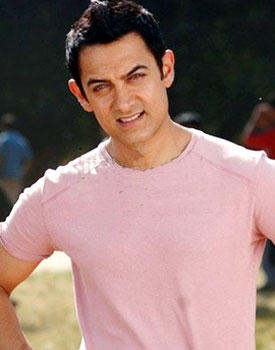 Aamir Khan Cute Stunning Pic In Pink T Shirt