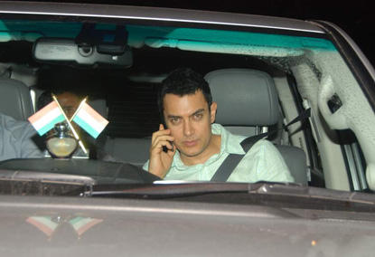Aamir Khan Photo In Car