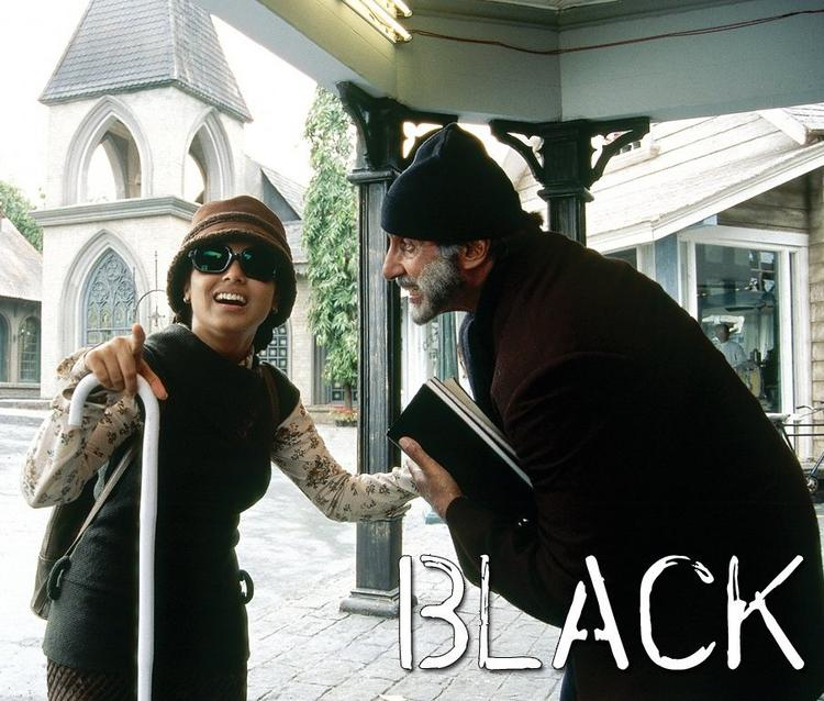 Amitabh Bachchan and Rani in Black