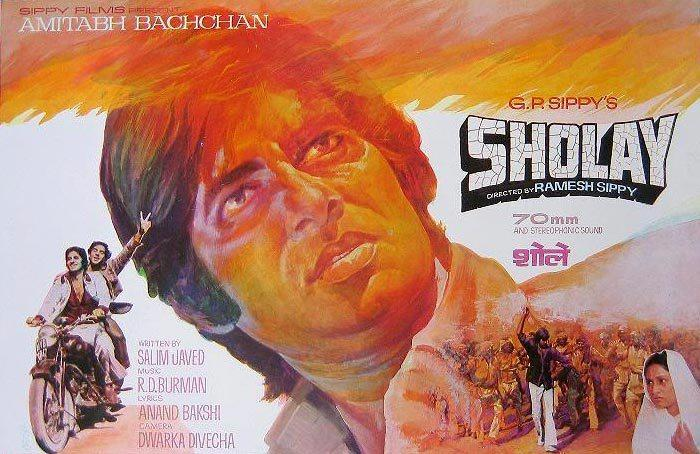 Amitabh Bachchan in Sholay Wallpaper