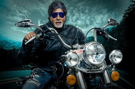 Amitabh Bachchan Wonderful Still On Bike