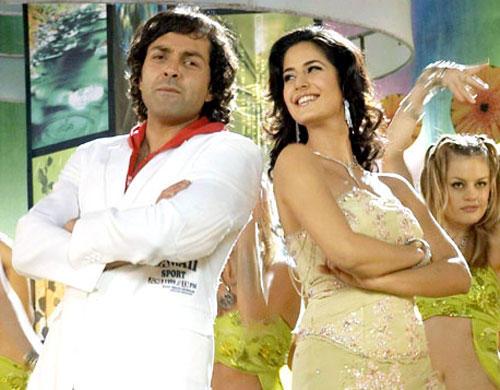 Katrina Kaif and Bobby Deol Dancing Pic in Apne
