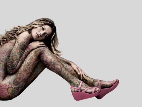 Gisele Bundchen Body Painting Still
