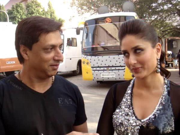Kareena And Madhur Nice Pics On The Sets