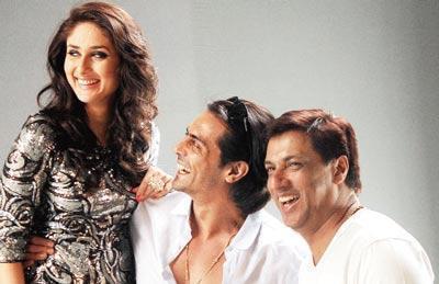 Kareena,Arjun And Madhur Smiling Pics
