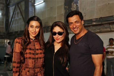 Karishma Visits On The Sets Of Heroine With Kareena And Madhur