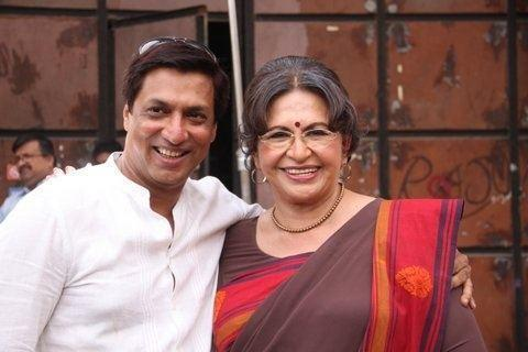 Madhur With Helen On The Sets Of Heroine