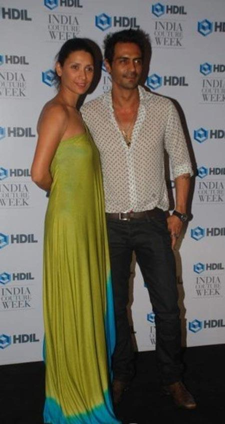 Arjun With Wife Meher