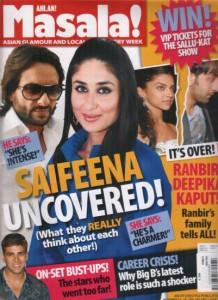Saif Ali Khan And Kareena Kapoor On The Cover Page Of Magazine