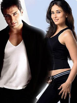 Saif Ali Khan And Kareena Kapoor Nice And Cool Photo