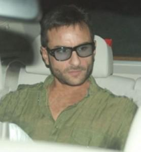 Saif Ali Khan In Car