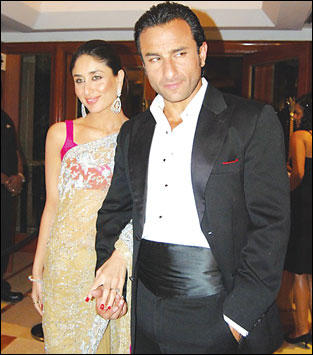 Saif Ali Khan and Kareena Kapoor In Filmfare Awards