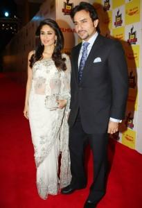 Saif Ali Khan And Kareena Kapoor In Red Carpet