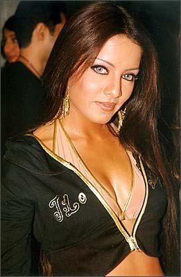 Celina Jaitley Sexy Cleavages Show Still