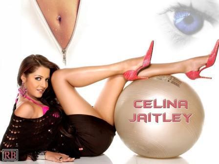 Celina Jaitley Sexy Milky Legs Exposing Pic