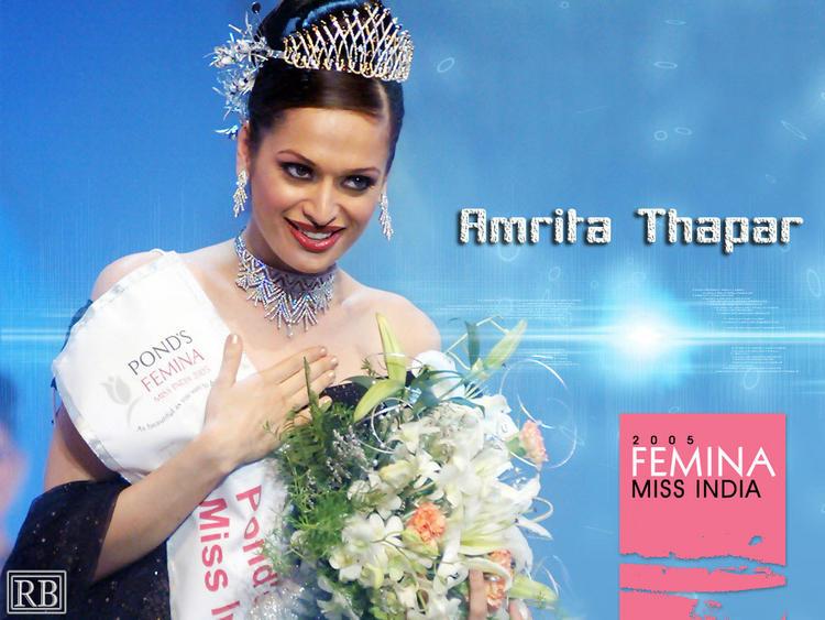 Amrita Thapar Won Miss India Crown