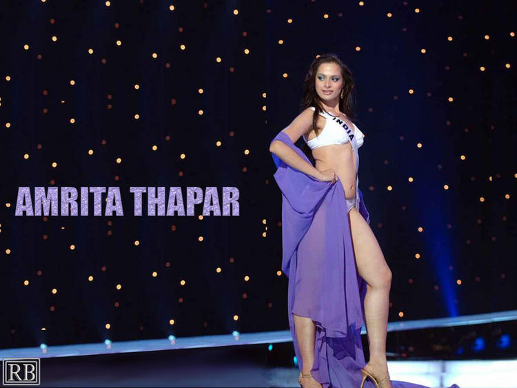 Bikini Babe Amrita Thapar Wallpaper
